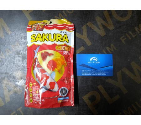 Thức ăn cá Sakura 35% 100g