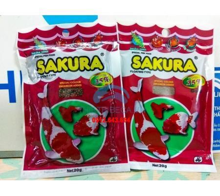 Thức ăn cá Sakura 35% 20g 2 gói