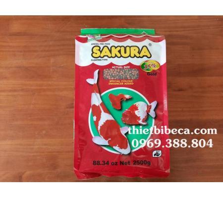 Thức ăn cá Sakura 35% 2500g